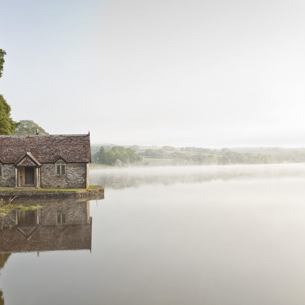 A Misty Morning Overlooking Pentillie Castles Bathing Hut